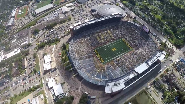 video jump into michigan stadium with army before saturday s football game jump into michigan stadium with army