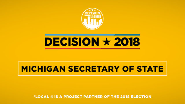 Michigan Election 2018: Secretary of state candidates in their own ...
