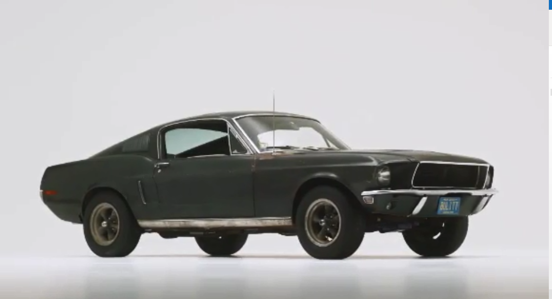 3 7 Million Ford Mustang Driven In The Movie Bullitt Sells For Record Price