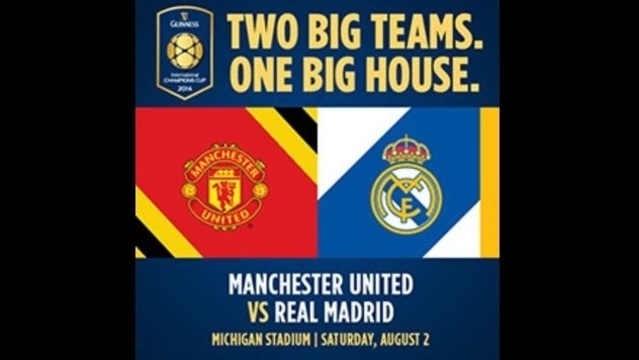 Michigan Stadium Will Host Real Madrid Manchester United Game