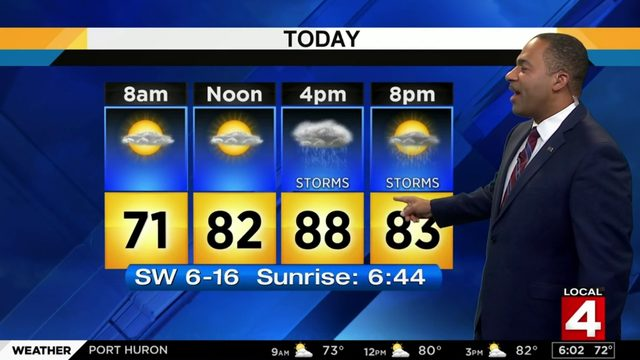Metro Detroit Weather Forecast Warm Sunday With Showers And Storms